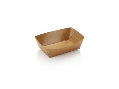 Eco Kraft Polylined Food Tray No 1 Mini 120ml (Qty250)