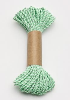 Bakers Twine 10 m x 2 mm - Lime Green & White (ea)
