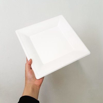 E - EcoWare Compostable Plate Square 26cm (Qty 50)