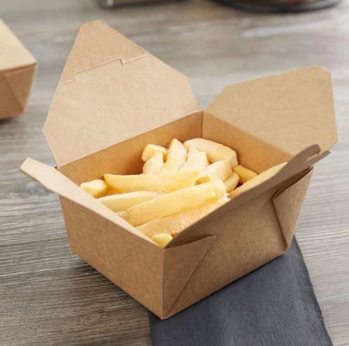 BIO Food Compostable (PLA) Lunch Box - Kraft #1 (Qty 50)