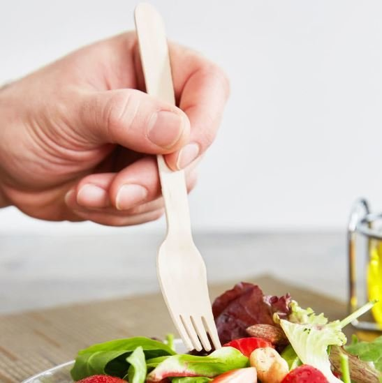Cutlery Wooden Forks (Qty 100)