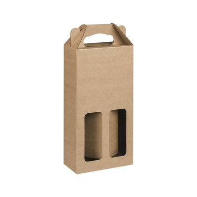 Box Corrugated Bottle Pack 2 - Kraft (each)