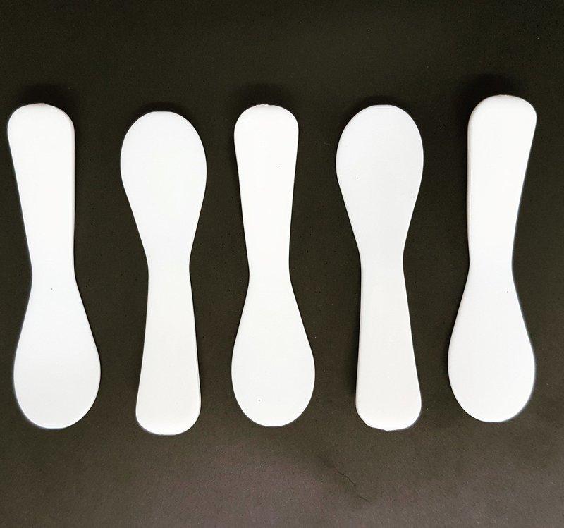 Catering Spoon Mini Spatula White (Qty 50)