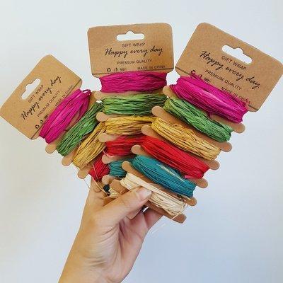 Raffia Paper Assorted Colors (6 x 1m)