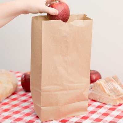 Paper Bags SO 6 Brown - 155x90x278mm (Qty 100)