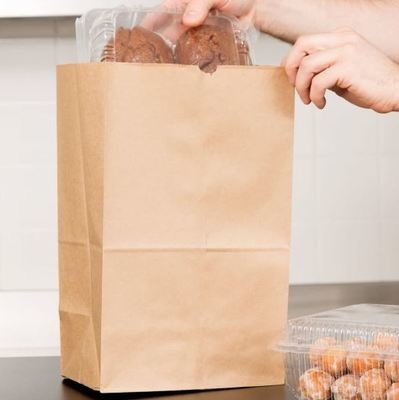 Paper Bags SO20 Brown - 209x127x390mm (Qty 50)