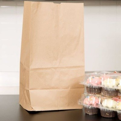 Paper Bags SO25 Brown - 209x127x430mm (Qty 50)