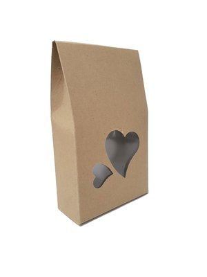 Box Treat Window Heart Kraft (each)