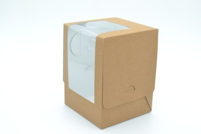 CupCake Single Box Window Kraft - Large (Qty 100)