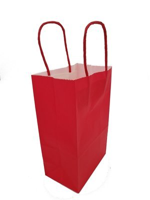 Paper Bag Twist Handle 130x75x210mm-Red (Qty 10)