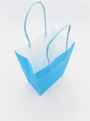 Paper Bag Twist Handle 130x78x210mm-Light Blue (10's)