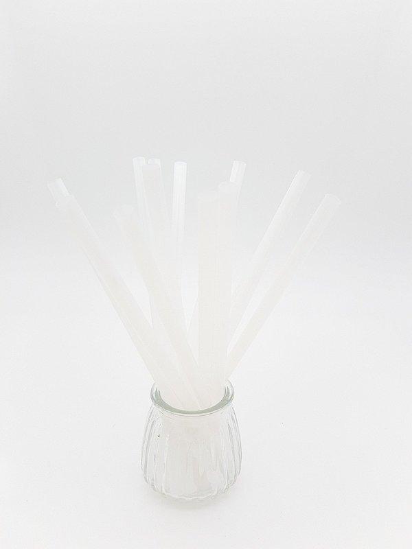 Bio Straws 8mm - Natural Unwrapped (Qty 100)