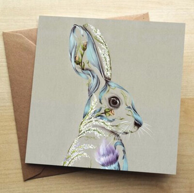 ❤️Rustic Hare Greeting Card In Stock For Next Working Day Delivery