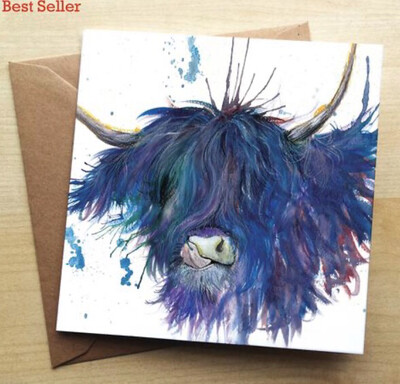 ❤️Highland Cow Greeting Card In Stock For Next Working Day Delivery