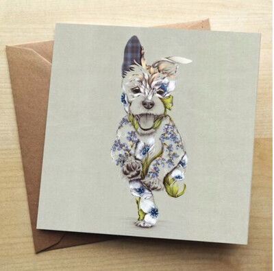 ❤️Rustic Terrier Greeting Card In Stock For Next Working Day Delivery