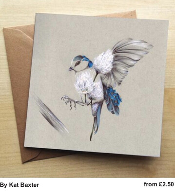 ❤️ Rustic Bird Flight Greeting Card In Stock For Next Working Day Delivery