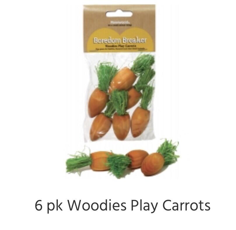 Rosewood Woodies Play Carrots 6pk