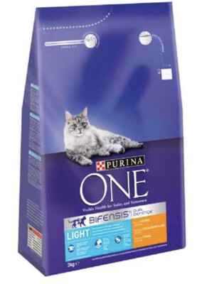 Cat Purina ONE Light 3kg RRP £16.99