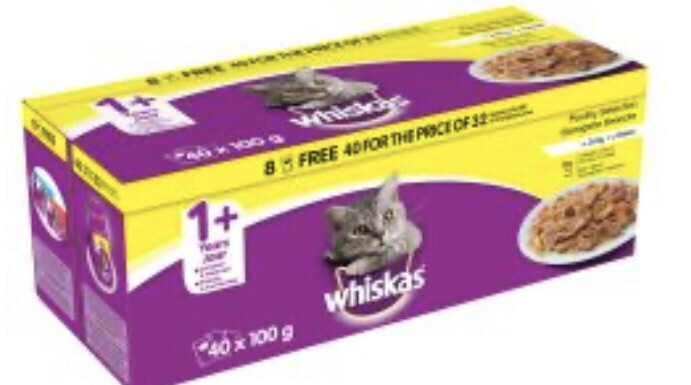 Cat Whiskas Poultry Multipack 40