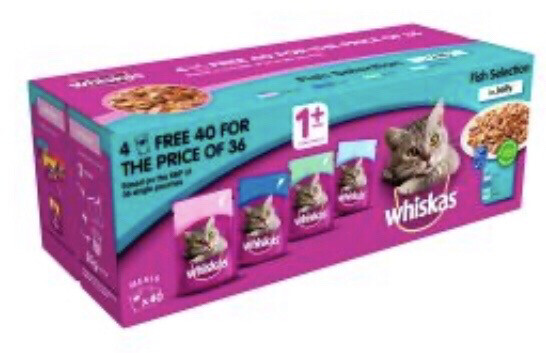 Cat Whiskas Multipack 40 Fish
