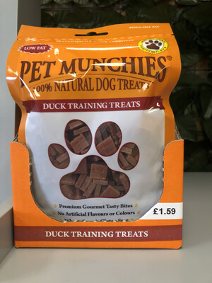 100% Natural Munchies Training Treats Duck