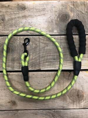 Power Dog Lead With Comfort Grip And Reflective thread Hi Vis