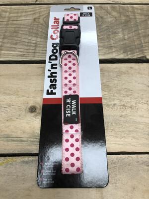 SALE Fash N Dog Polka Dot Dog Collar Large 41 - 50cm