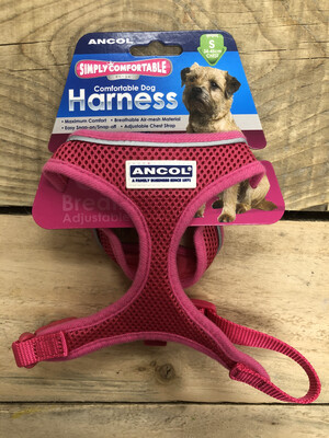 Ancol Comfy Mesh Harness Sml Pink 34 - 45cm RRP £11.99