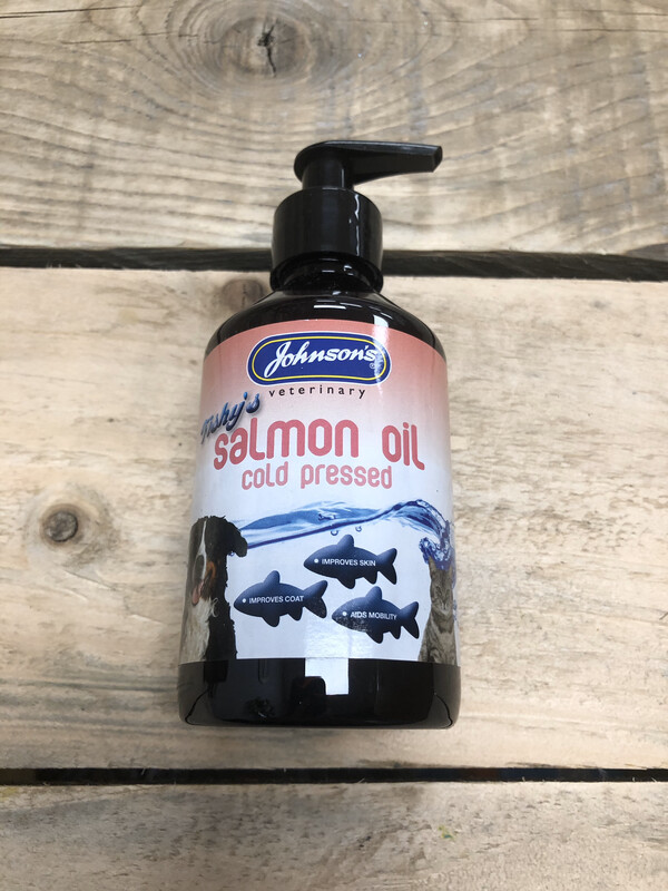 Johnson's Fishy Salmon Oil Coat,Skin And Heart Cat And Dog 250ml