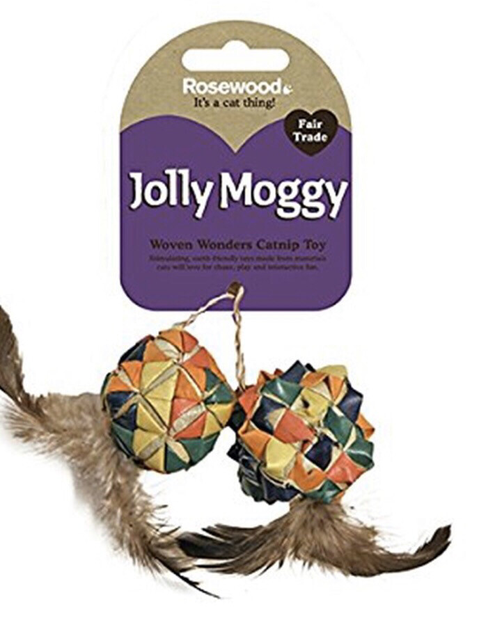 Rosewood Woven Wonders Catnip Squares 2 Pc Cat Toy