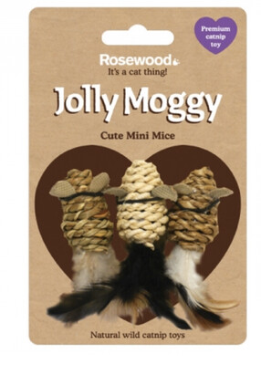 Rosewood Jolly Moggy Catnip Mini Mice Cat Toy