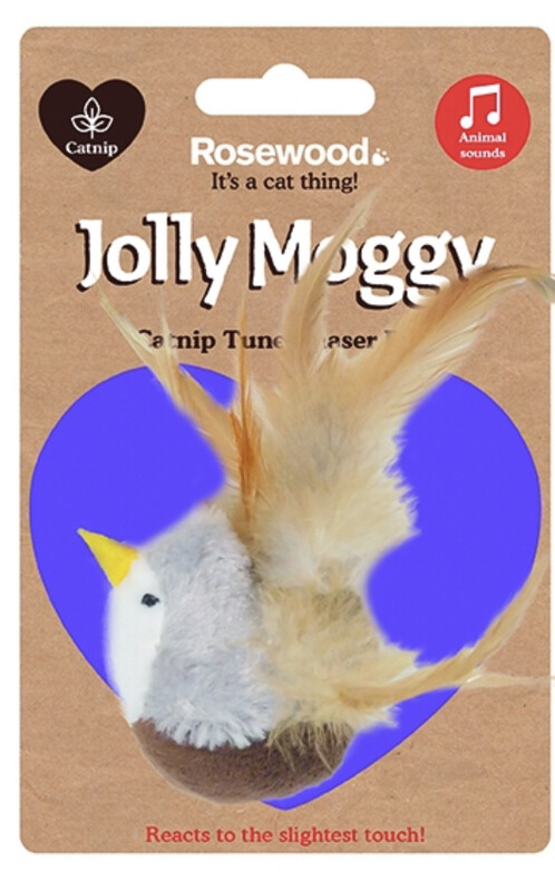 Rosewood Jolly Moggy Catnip Tune Chaser Bird Cat Toy