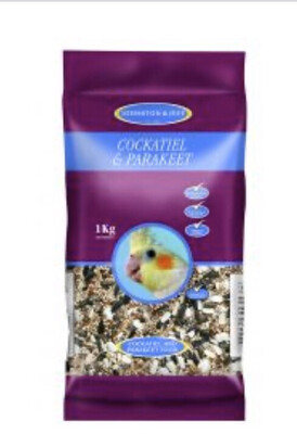 Johnson & Jeff Parakeet And Cockateil Food 1kg