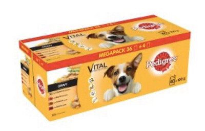 Pedigree Dog Pouches Mixed Selection in Jelly 40 for 36 Mega Pack