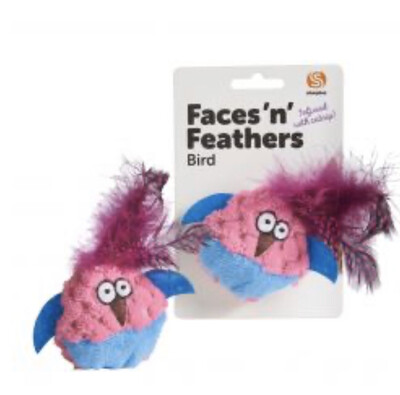 Cat Toy Faces N  Feather Bird