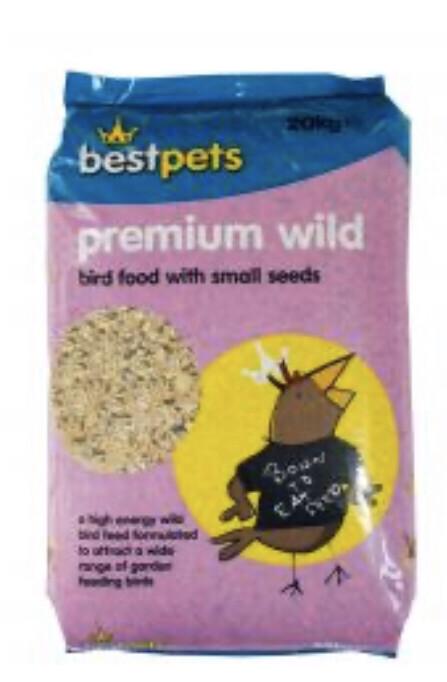 Bird Best Pets Premium Seed Mix Garden Wild Bird 20 Kg