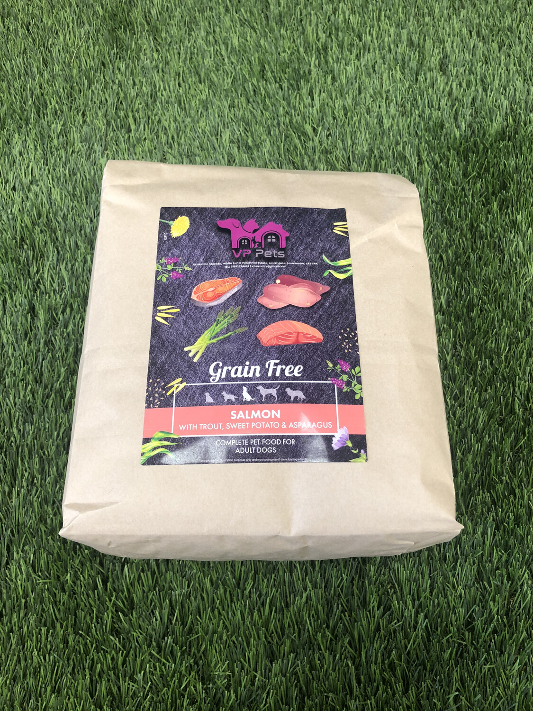 VP Grain Free Adult Dog Food - Salmon, Trout, Sweet Potato & Asparagus 12kg Including Promotional Offer