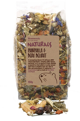 Rosewood Chinchilla And Degu Delight 150g