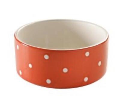REDUCED Mason Cash Red Polka Dot XL Dog Bowl