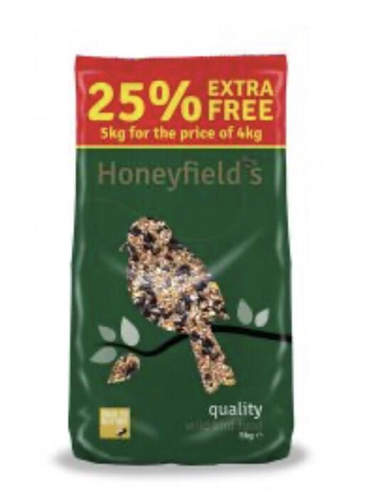 Honeyfield Quality Wild Garden Bird Mix 4kg Plus 25% Extra Free!