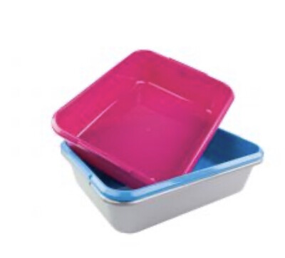 Cat Litter Tray Super Jumbo XL Deluxe Pink, Grey, Blue