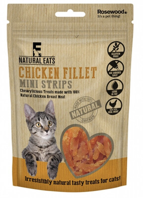 Rosewood Chicken Fillet Mini Strips For Cats 50g