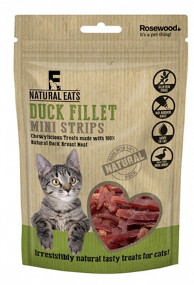 Rosewood Duck Fillet Mini Strips For Cats 50g