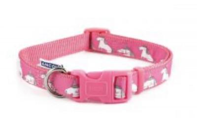Ancol Fashion Collar Unicorn Pink Medium 30 - 50cm