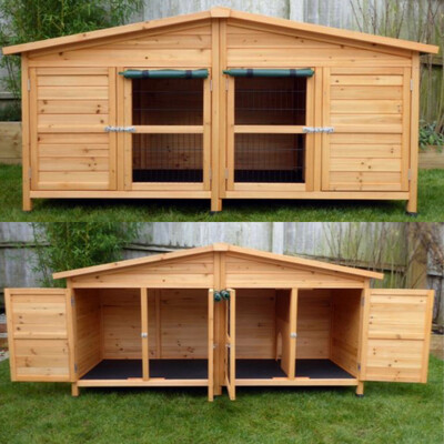 Extra Large Rabbit Or Guinea Pig Hutch 2m