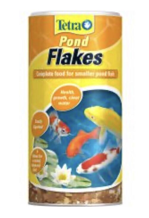 Aquarium Tetra Pond Flakes 1L