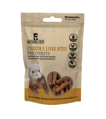 Rosewood Ferret Treats Chicken And Liver Bites