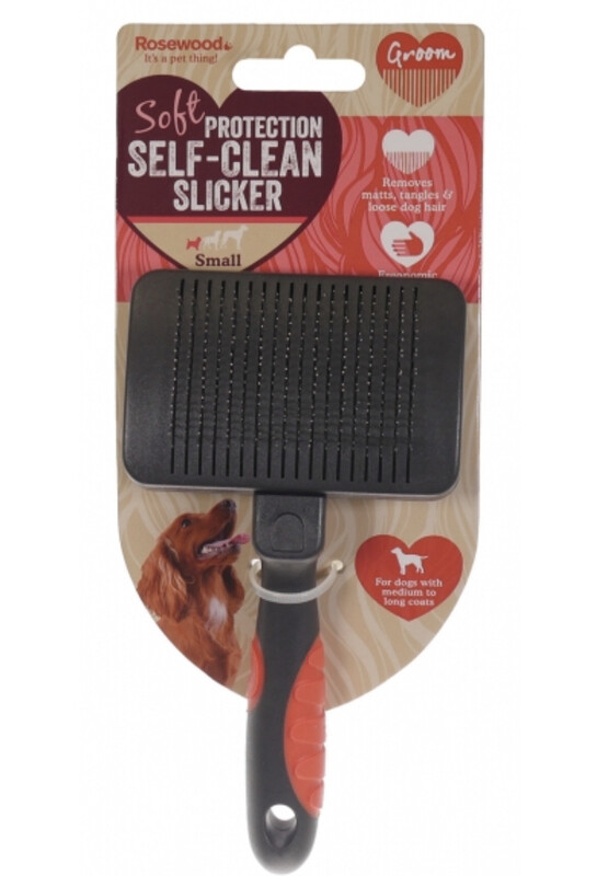Self Cleaning Slicker Brush Dog Grooming Tool Large