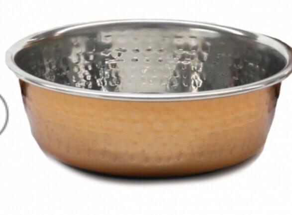 Rosewood Hammered Copper Dog Bowl 1900ml
