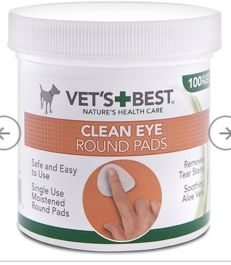Rosewood Vet Clean Eye Round Pads (50)